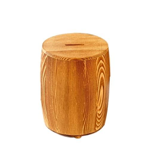 XHAEJ Caja de ahorro de dinero, caja de dinero de madera de pino, tubo creativo cilíndrico forma hucha niños, papel duro dinero dinero cajas tarro para adornos del hogar, bancos de dinero huchas