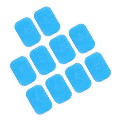 perfeclan 2x10 pcs Pegatinas de Electroestimulador Abdomen/Almohadillas Pegativas para E MS ABS de Fitness