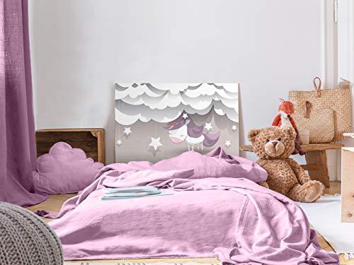 Cabecero Cama Infantil PVC Impresión Digital Unicornio 100 x 60 cm   Disponible en Varias Medidas   Cabecero Ligero, Elegante, Resistente y Económico