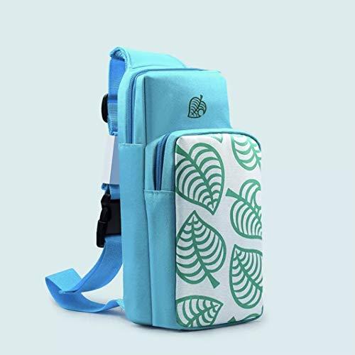 Nintendo Switch Animal Crossing Blue Leaf Soft Single Strap Shoulder Bag...
