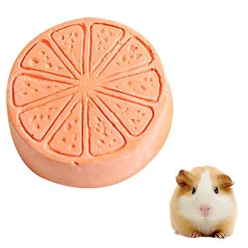 Conejos Hamsters Fruta Juguetes for Mascotas Animales pequeños Dientes de molienda Herramientas Piedras Mascotas de formación Huangchuxin (Color : Orange)
