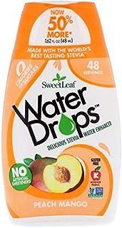 SweetLeaf Water Drops, Peach Mango, 1.62 Fl Oz (Pack of 1)