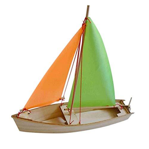 Hellery Sviluppo di Giocattoli Fai-da-Te in Legno di Puzzle 3D di Navi in Barca A Vela in Legno