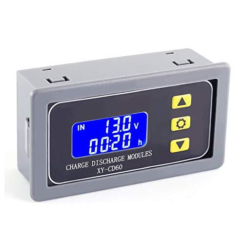 PEMENOL DC 6-60V Batterie-Laderegler Dual Mode Batterieschutz Platine LCD-Anzeige Multifunktionsprüfgerät Batterie Laderegler Modul für Lithium/Blei-Säure-Batterie