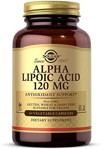 Solgar Ácido Alfa-Lipoico Cápsulas vegetales de 120mg - Envase de 60