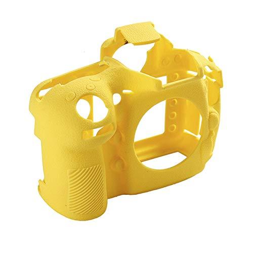 Funda de silicona de goma para cámaras Nikon D810 SLR, funda protectora de cuerpo de la cámara (color: amarillo)