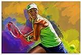 Iooie Leinwand Druck Poster Angelique Kerber Tennis für