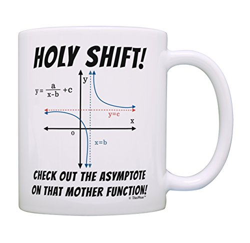 Math Gifts Holy Shift Check the Asymptote Math Nerd Gifts Math Lover Mug Coffee Mug Tea Cup White