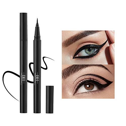 Eyeliner Mimore, eye-liner liquide, outils de maquillage crayon crayon eyeliner imperméable, dense, séchage rapide, sans bavures et longue durée de 24 heures (noir)