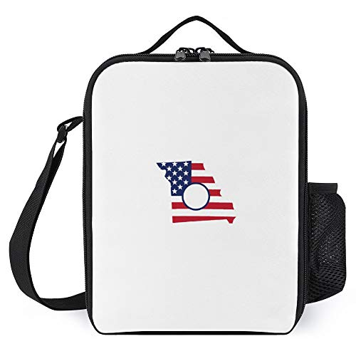 Lunch Box for Kids Lunch Bags with Bottle Holder for Women Men Missouri Fashion Insulated Lunchbox Large Reusable Meal Prep Bag for Work School Picnic