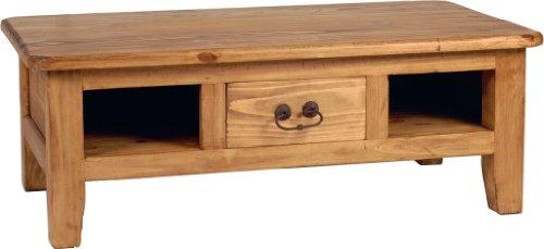 MiaMöbel Couchtisch Mexico Möbel 110x40x60 cm Landhausstil Massivholz Pinie Honig