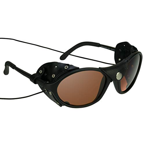 Leather Side Glacier Sunglasses Motorcycle Glasses HD Lens String & Side Wind Shields