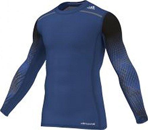 adidas Langarm-T-Shirt Techfit Chill Herren Blau
