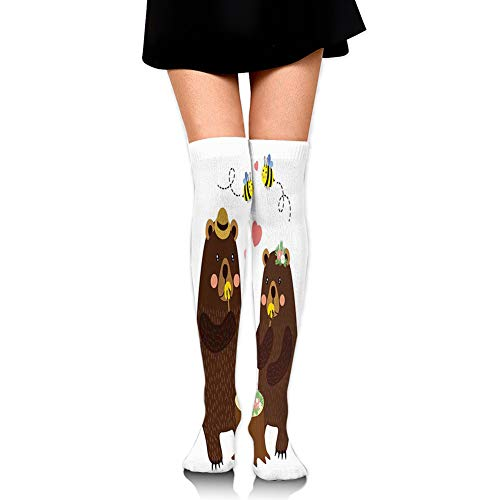 Womens//Girls Bugs And Flying Insects Casual Socks Yoga Socks Over The Knee High Socks 23.6