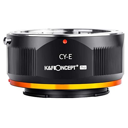 K&F Concept 2020進化版 マウントアダプター コンタックスヤシカC Yマウントレンズ-SONY NEX Eカメラ装着 PRO Ⅱ 艶消し仕上げ 反射防止 無限遠実現 メーカー直営店
