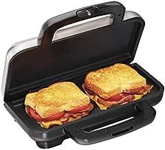 Proctor Silex Deluxe Hot Sandwich Maker, Nonstick Plates, Stainless Steel (25415)