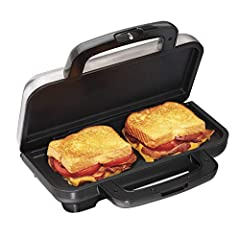 Fast and Easy to Use: Just Load Lightly Buttered or Oiled Bread With Your Favorite Ingredients, Place It in the Sandwich Toaster and Close the Lid. in Under 5 Minutes, You'll Have a Hot, Perfectly Toasted Sandwich. Toasts Two Thick Sandwiches: The Co...