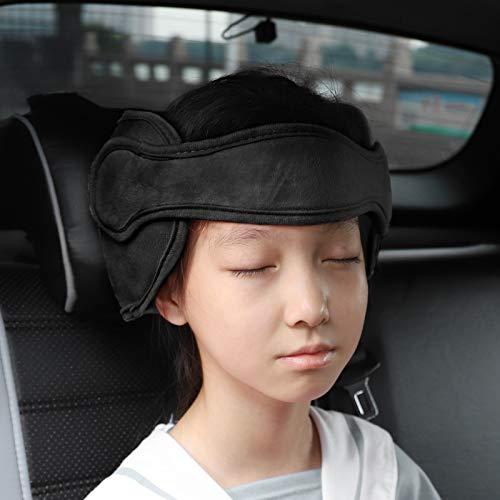 FREESOO Småbarn bilsäte huvud stöd justerbart band säkerhet bilsäte nacklindring bilsätesremmar skydd för baby barn svart