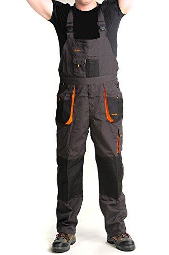 Latzhose Arbeitshose graphit 270g/m2 CLASSIC Handwerker KFZ Gärtner Mechaniker, Grau, 54