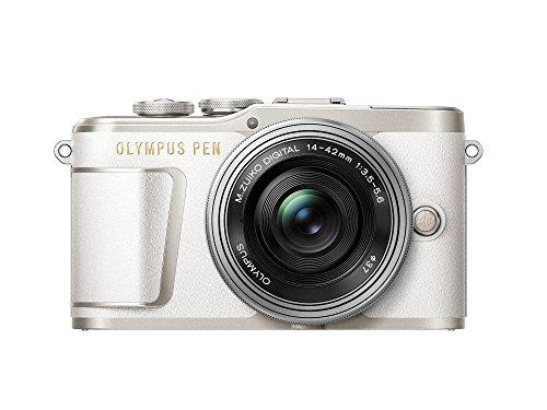 Olympus PEN E-PL9 Kit, Cámara de Sistema Micro Cuatro Tercios (16,4 MP, Estabilizador de Imagen de 5 Ejes, Visor Electrónico, 4K Vídeo) + Objetivo M.Zuiko 14-42mm EZ, blanco/plata
