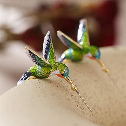 FEIYI Niedliche Kolibri-Ohrringe, kreativ, mehrfarbig, modisch, Unisex, Party-Schmuck, Geschenke