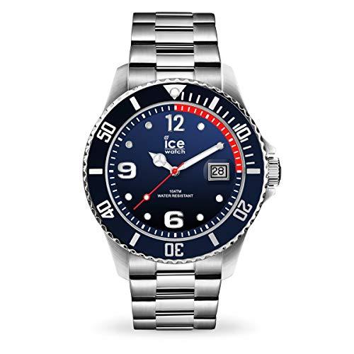Ice-Watch Ice Steel Marine Silver, Orologio Blu da Uomo con Cinturino in...
