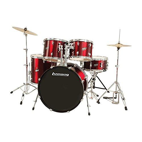 "Ludwig 5 Piece Accent ""Drive"" Drum Set (Red Foil)"