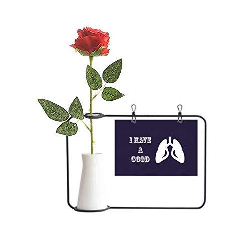 OFFbb-USA Cuerpo pulmones respirando órganos afortunados rosa artificial flor colgante jarrones decoración botella