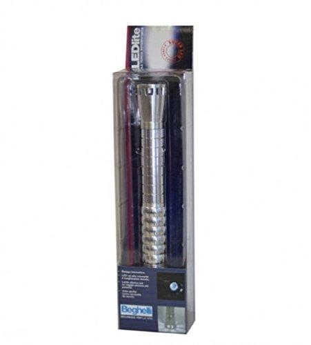 Beghelli Led-zaklamp, schokbestendig aluminium LEDlite 8902, spatwaterbestendig, Italiaans design lamp
