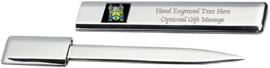 Hylton Family Crest Surname Coat Of Arms Heraldry Engraved Letter Opener