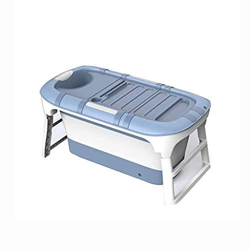 Badewannen Können Mobile, Komfortable Folding Erwachsene/Kinder, Multifunktionale tragbare Anti-Rutsch-Tauchbad (Farbe : Pink)