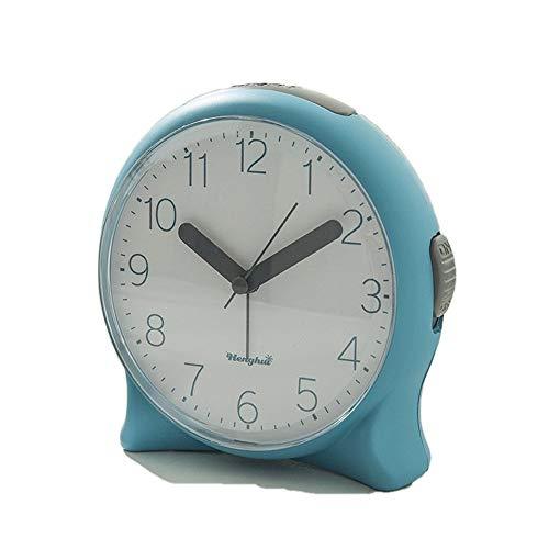 QLKJ Budzik cyfrowy, mały stoliczek budzika, budzik, budzenie przy łóżku, drzemka, światło nocne, śliczne, białe, 13,5 cm x 13 cm x 6 cm