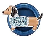 Bath and Body Works White Barn Daschund Scentportable Car Air Freshner Visor Clip Weiner Dog with Blue Glitter Sweater