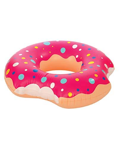 Horror-Shop Angebissener Donut Schwimmreifen 120cm als Wasserspielzeug & Deko