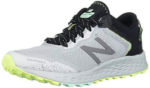 New Balance Women's Fresh Foam Arishi Trail V1 Running Shoe, Light Aluminum/Black/Neo Mint, 8.5 M US