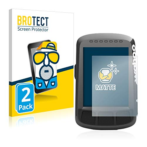BROTECT Protector Pantalla Anti-Reflejos Compatible con Wahoo Elemnt Bolt GPS (2 Unidades) Película Mate Anti-Huellas