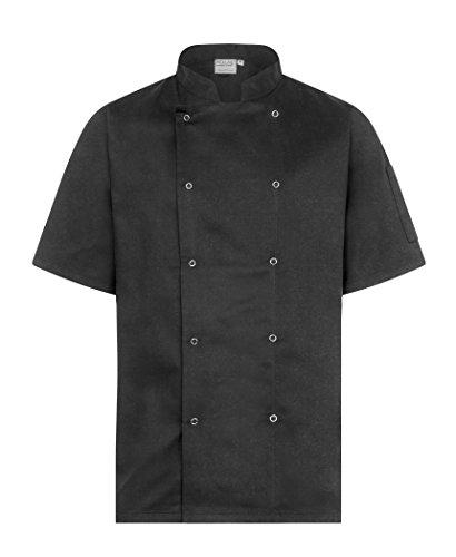 ProLuxe Giacca Cuoco Professionale - Manica Corta - Unisex - vestibilità Moderna - Nero - M