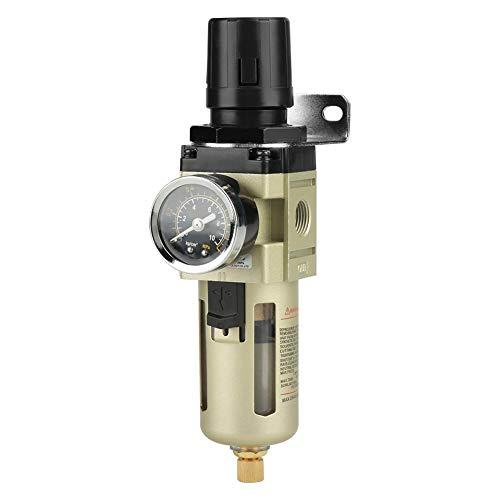 Air Filter Regulator, 2000 l/min luchtfilterregelaar G3/8 inch luchtolie waterafscheider filter G3/8 '' pneumatische regelaar AW3000-03 drukregelventiel drukfilter 5 m, Max druk: 10,2 kgf / cm2 (1 MPA)