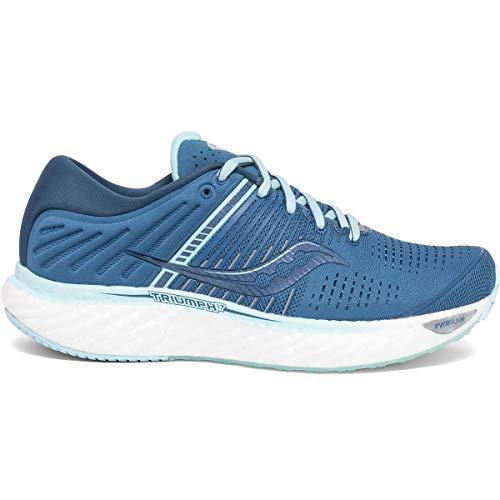Saucony Women's S10547-25 Triumph 17 Running Shoe, Blue/Aqua - 8.5 W