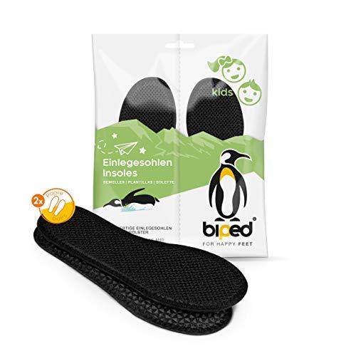 biped 2 Paar Kinder Aktivkohle Sohlen - zur Klimaregulierung, für hygienisch frische Schuhe und Füße z2769(33)