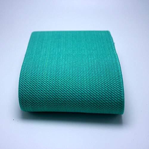 7.5CM Brede hoge Kwaliteit Duurzame Broek Riem Kleur Elastische Band/Twill Elastische Tape Latex Elastische Tape Rubber Band 75mm Green lake