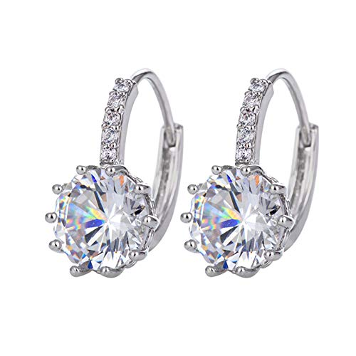 Personality Romantic Retro Diamond Love Metal Cold Light Earrings Ladies Jewellery Round Crystals From Earrings Finish.