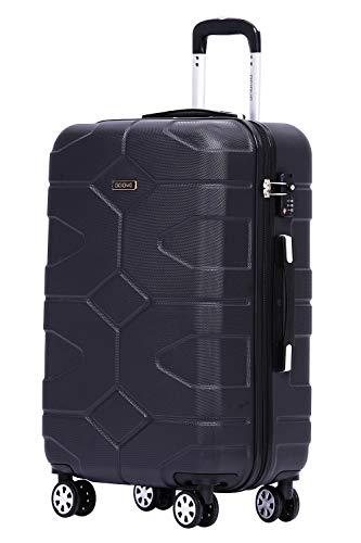 BEIBYE - TSA Schloß 2035 Hartschale Reisekoffer Koffer Handgepäck Trolley (Schwarz, M)