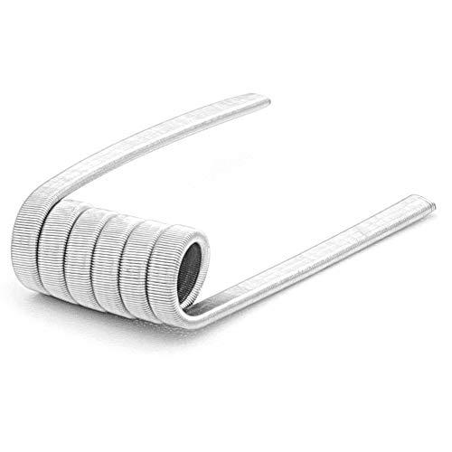 10 x NI80 Fused Clapton Coils 0,3 Ohm Nichrome 80 Draht Wire vorkompilierte Wicklungen Selbstwickler Fertig-Coils für E-Zigarette
