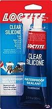 Henkel Corporation 908570 2.7 oz Tub Clear Silicone Waterproof Sealant, Single Tube