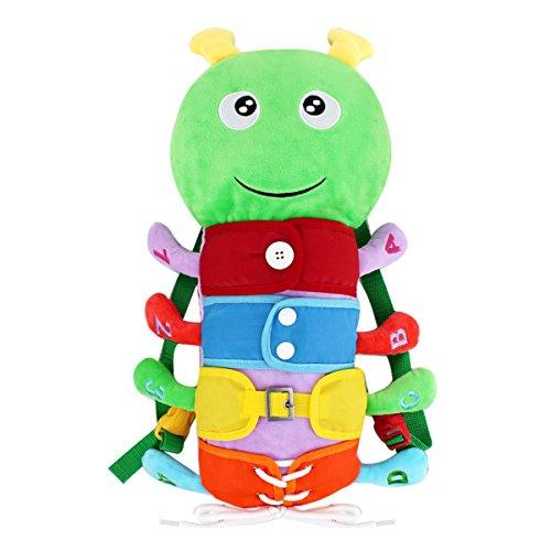 AiSi Kinder Lernspiele Fädelspiel Pädagogisches Lernspielzeug, Schnürsenkel Binden Lernen, Praktische Fähigkeiten Entwickeln, Baby Rucksack (1 PCS)