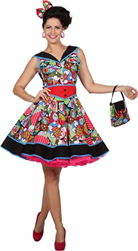 WILBERS & WILBERS Disfraz de Pop Art Jenny para Mujer S/M