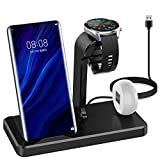 HATALKIN Compatible with Huawei Watch Phone Charger Wireless Charging Station Dock for Huawei Watch GT GT2 2E / Honor Magic Watch 2 / P40 Pro / P30 Pro/Mate 40 30 20 Pro/FreeBuds 3/pro iPhone Samsung