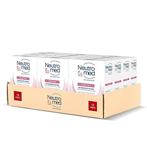 Neutromed Detergente Intimo Lenitivo, con Complesso Micellare, Azione Emolliente, pH 5.5, 12 Pezzi x...