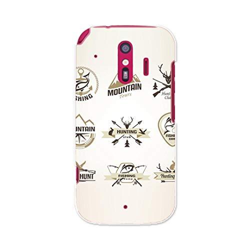 igcase らくらくスマートフォン me F-01L 2019年版 専用ハードケース スマコレ スマホカバー 009773 ステッカー 英語 文字